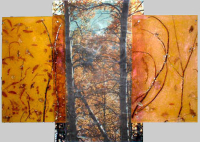 "Autumn Apex,   80"" x 68"" x 4"""